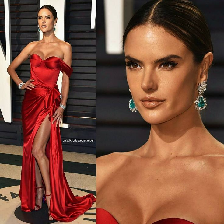 Alessandra Ambrosio dressed in Ralph & Russo Couture gown at 2017 Vanity Fair Oscar After-Party. #glamorous #bestdressed #oscars #academyawards #oscarawards #celebrity #celebritystyle #fabfashionfix #vanityfair #afterparty #ralphrusso #alessandraambrosio