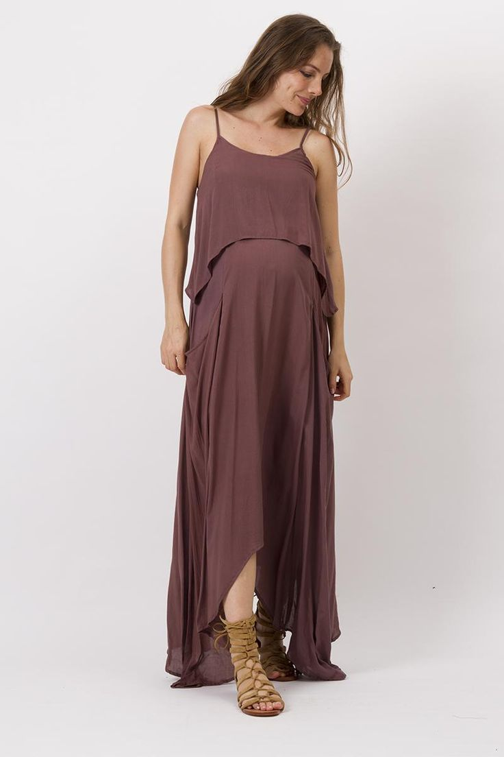 """""""Nothing But Love"""" Nursing Dress - Mulberry Fillyboo - Boho inspired maternity clothes online, maternity dresses, maternity tops and maternity jeans."""