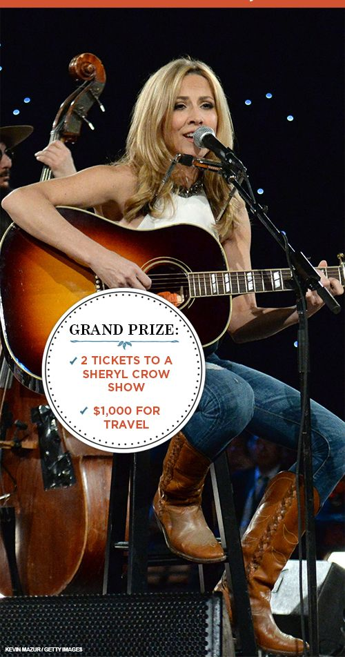 Enter for a chance to see our June Cover Star Sheryl Crow in concert! PLUS $500 CASH