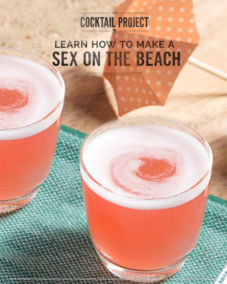 With a sexy name and sweet and fruity flavor, this 80s classic cocktail is a must-make Labor Day Drink. A vodka-based cocktail at heart, the Sex On the Beach drink is bursting with the taste of tree-ripe peaches, cranberries and pineapple juice. See how to make it at TheCocktailProject.com