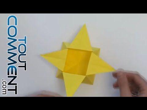 Tuto Origami : boîte en forme d'étoile - YouTube