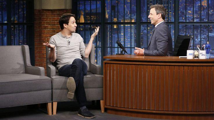 Lin-Manuel Miranda talks immigrants and #Ham4All on Late Night With Seth Meyers: #linmanuelmiranda #miranda