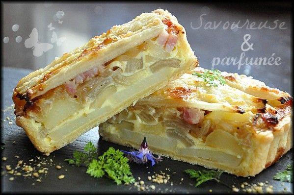Une collègue de travail, Magali m'a donné des côtes de blettes de son jardin. Je me suis empressée de réaliser cette tarte qui est vraiment délicieuse... Pour une tarte rectangulaire de 10 cm x 33 cm Pâte 1 oeuf 100gr de beurre 200gr de farine Poivre...