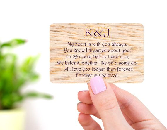 Nickel anniversary wallet card for him st anniversary gift