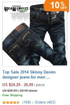 Top Sale 2015 Skinny Denim designer jeans for men.  #jeans #men jeans #denim jeans