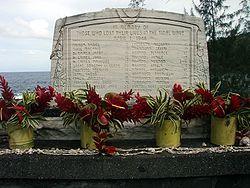 Laupāhoehoe, Hawaii - Tsunami memorial...