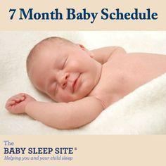7 Month Old Baby Schedule #baby #sleep #schedules