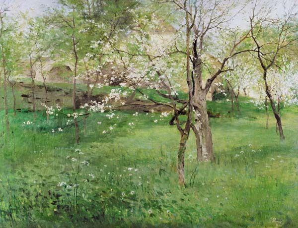 Antonin Slavicek - Blossoming orchard at Okor