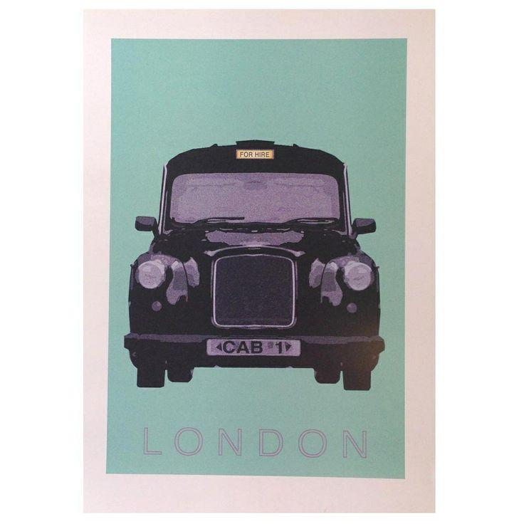 London Taxi Cab Art Print - hardtofind.