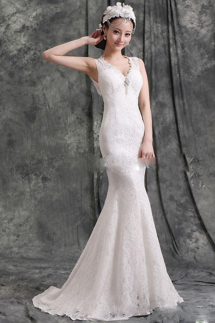 387 best mrmrs nichols images on pinterest wedding wholesale 2014 new design v collar lace ball gown wedding dresses slim fit beads prom dresses ombrellifo Gallery