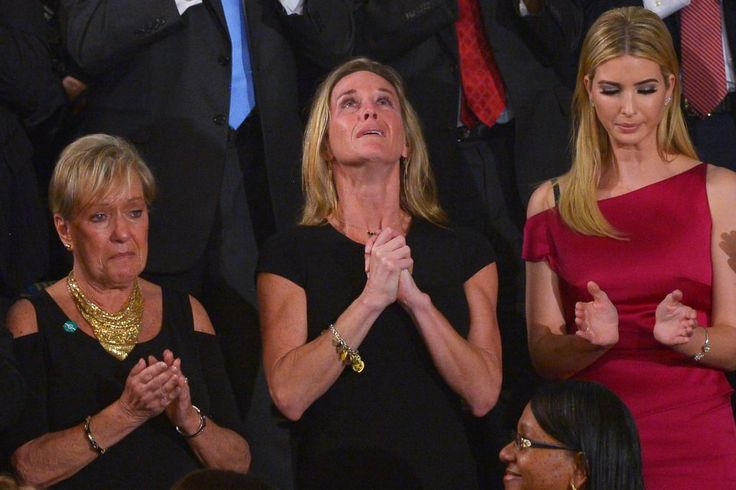 Mourning Nation Watched Trump Honor SEAL's Widow – Now We Learn of Secret Meeting Before It Happened