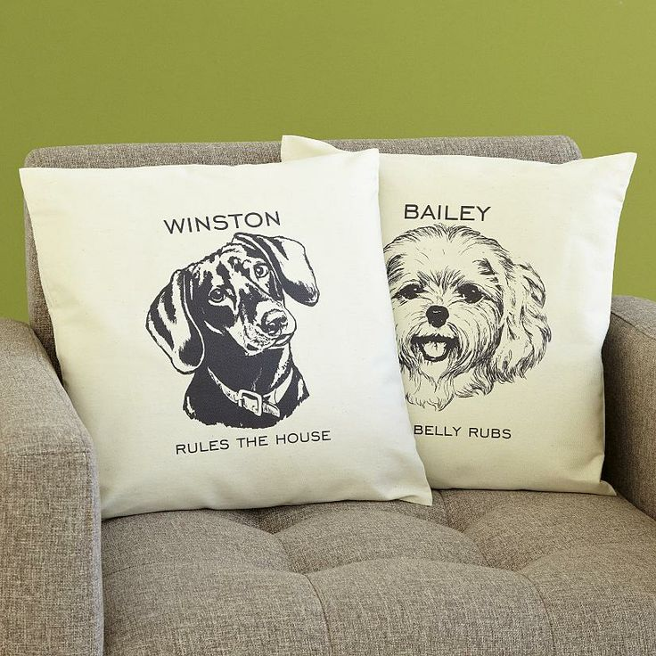 Presents From The Dog Part - 36: Dog Breed Sketch Accent Pillow