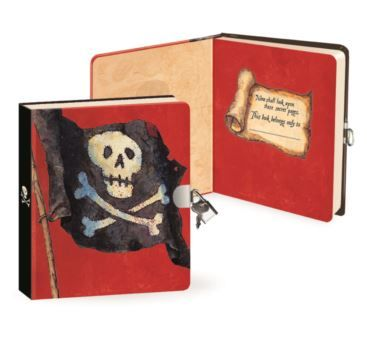 Lock & Key Diaries - PIRATE - Bobangles #PeaceableKingdom #pirate #diary #kids