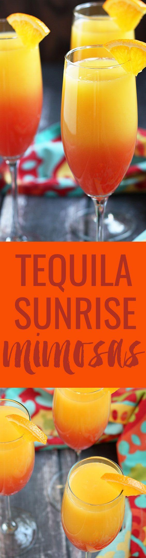 Tequila Sunrise Mimosas | http://theblondcook.com
