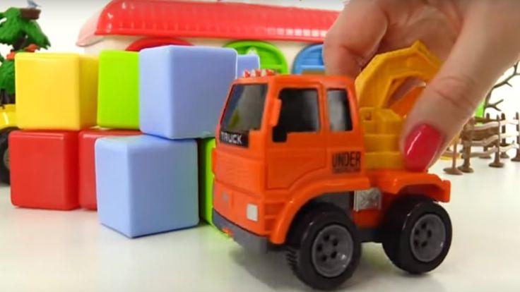 Spielzeugspaß für Kinder - Spielzeugautos - Der Zementmischer braucht Hilfe
