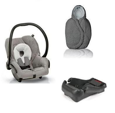 Quinny 2011 Mico Car Seat and Footmuff Set in Steel Gray. This set includes: 1 car seat and 1 matching footmuff. Car seat features: The Maxi-Cosi Mico Car Seat's lightweight design makes it easy for travel. New Improved Canopy Design New Infant Insert Side Impact Protection Lightweight design Energy absorbing EPP foam Adjustable stay-in-car base 5-point harness with up-front adjustment Compatibility with all Maxi-Cosi and Quinny strollers. Recommended Use: Weight: 5-22 pounds (2.3-10 kg)...
