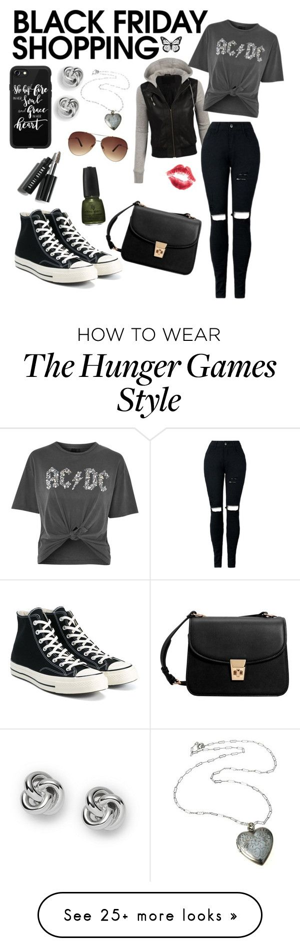 """""""Black to black"""" by jollypolly127 on Polyvore featuring LE3NO, Topshop, Bobbi Brown Cosmetics, Converse, Casetify, FOSSIL, MANGO and Ashley Stewart"""