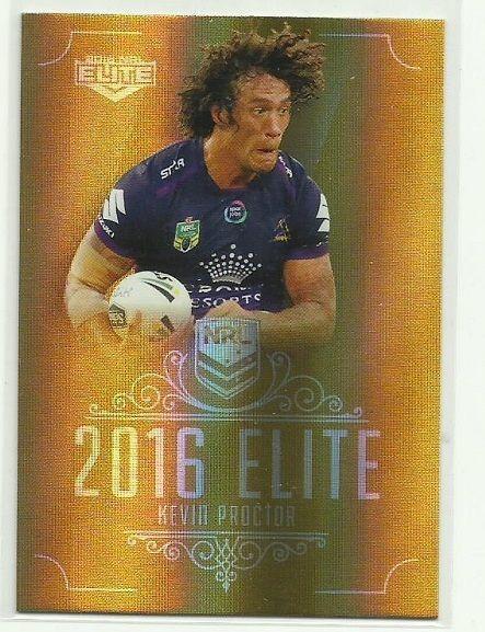 2016 NRL Elite parallel GOLD card SG082 KEVIN PROCTOR MELBOURNE STORM #ESPELITE…