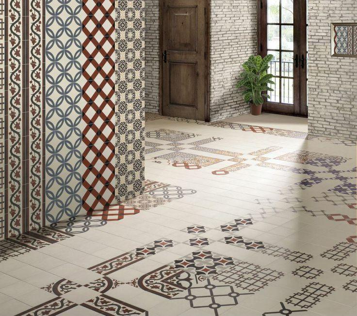 mainzu victorian gray-blue-red-white tile art