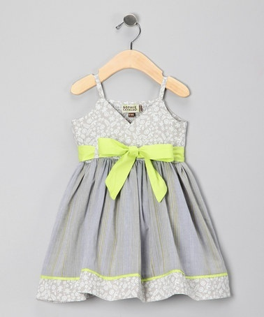 Grey and yellow girls dress