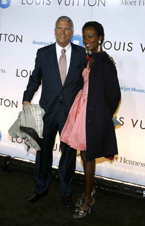 Bussiness manLarry Gagosian and girlfriend Creative Director Shala Monroque Shala's style is amazing.