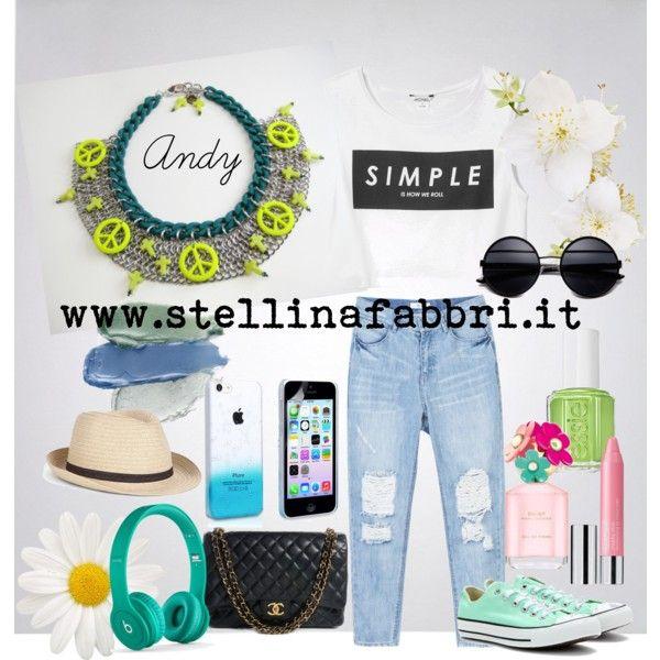 """Stellina Fabbri"" Necklace Andy www.shop.stellinafabbri.it ---by francy83pinklady on Polyvore"