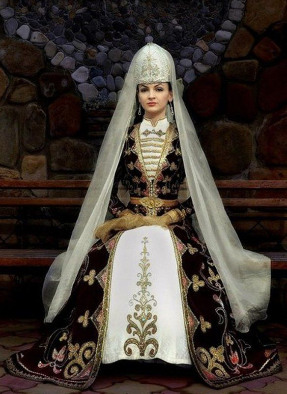 Circassian bride.  Clothing style: early 20th century.