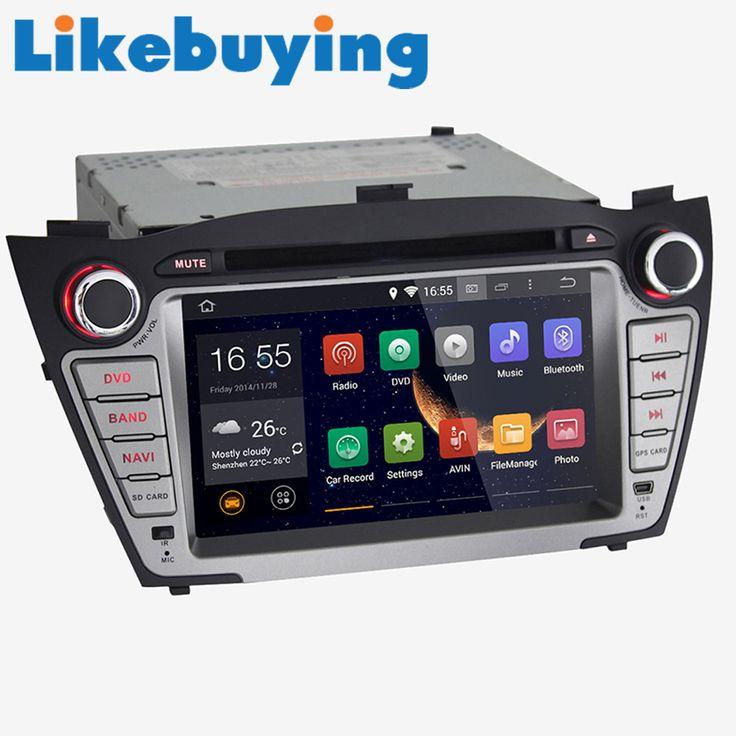 1024*600+16GB 7'' Quad Core Car Audio 2 DIN Android 4.4.4 For Hyundai IX35 2010-2013 Automotivo DVD Player Stereo GPS Navigation