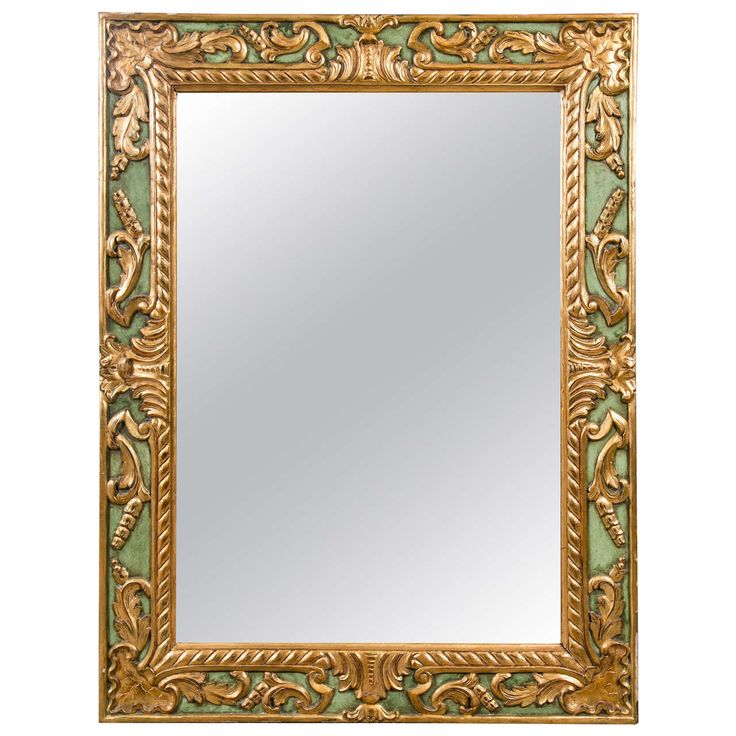 Carved Paint Decorated Mirror By Jansen