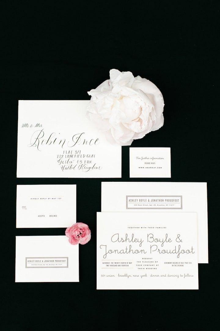 fast shipping wedding invitations%0A Modernly Chic Brooklyn Wedding