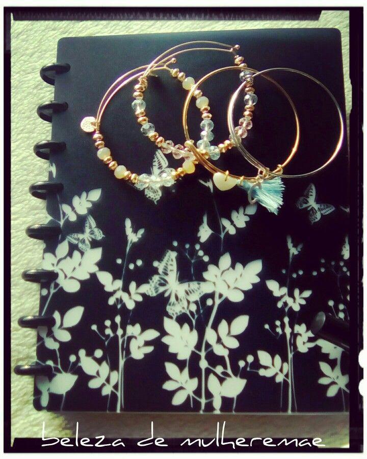 #bangels #gold #rose #acessórios #pulseiras #planner #plannergirl