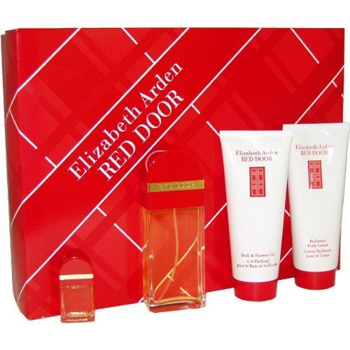 Red Door Eau-de-toilette, Body Lotion, Bath And Shower Gel and Mini Parfum Splash Women by Elizabeth Arden by Elizabeth Arden. $45.98. Red Door by Elizabeth Arden for Women - 4 pc Gift Set 1.7oz EDT, 3.3oz Body Lotion, 3.3oz Bath and Shower Gel, 5ml Mini Parfum Splash. Recommended for romantic wear. Red Door by Elizabeth Arden for Women. Introduced in the year 1989, by the design house of Elizabeth Arden. Red Door is a floral fragrance with a blend of red rose,...