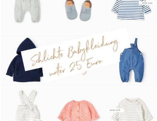 Schlichte Babykleidung unter 25 Euro