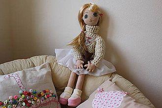 Hračky - textilná bábika - 7524489_