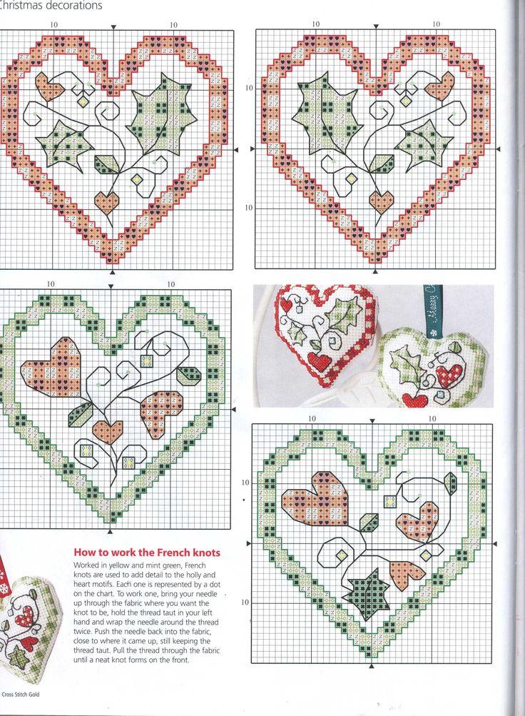 Hearts cross stitch
