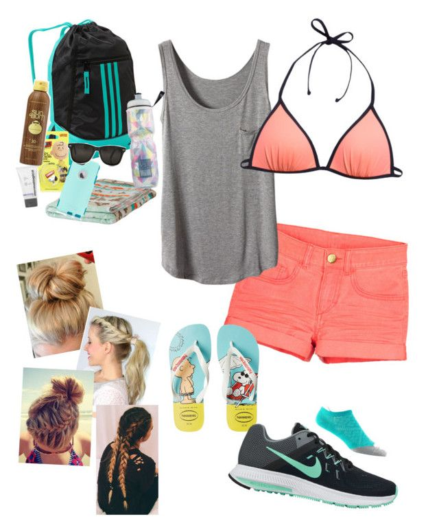 """""""Untitled #54"""" by snoopygirlxoxo on Polyvore featuring adidas, H&M, Havaianas, NIKE, Woolrich, Topshop, OtterBox, Dermalogica, Sun Bum and Victoria's Secret"""
