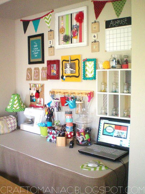 cute craft room - lots of fun ideas