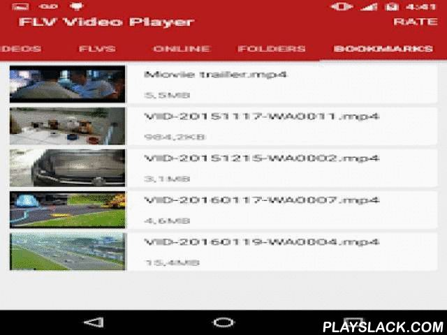 FLV Video Player  Android App - playslack.com ,  Play your flv files from your SD-card with this simple video player.Watch your favorites HD videos, movies, music clips and tv shows.Enjoy most popular video formats like mp4, avi, flv and mkv in high definition (720p and 1080p).It also supports more media formats like wmv, rmvb, mov, m4v, mpg, 3gp and others.It supports .srt subtitles and embedded mkv subtitles. Just put your subtitle in the same directory with the same name of the related…