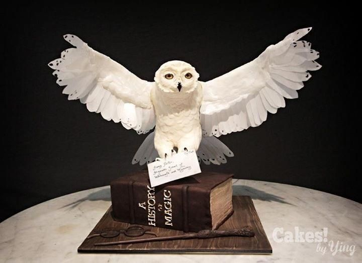 Harry's Hedwig (CakeFlix Collaboration)  by Cakes! by Ying