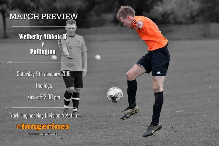 MATCH PREVIEW: Pollington B Team Welcome Pollington To The Ings. http://www.wetherbyathletic.com/news/match-preview-pollington-1548668.html