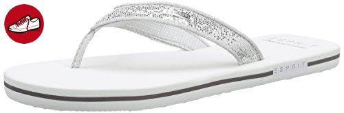 ESPRIT Glitter Thongs, Damen Zehentrenner, Weiß (100 white), 39 EU - Esprit schuhe (*Partner-Link)