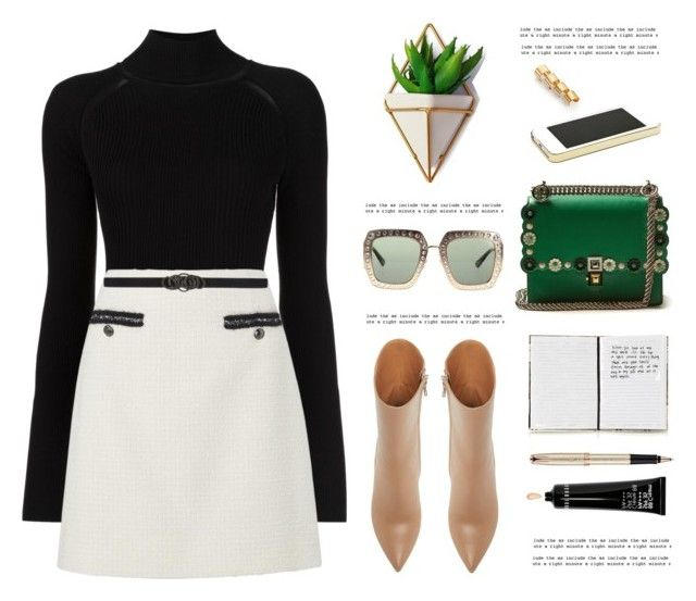 """OOTD"" by yexyka ❤ liked on Polyvore featuring Misha Nonoo, Fendi, Harrods, Parker, Gucci, Maison Margiela, Oscar de la Renta, Bobbi Brown Cosmetics and emeraldgreen"