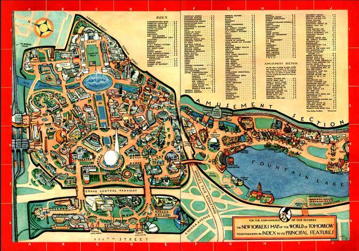 New York World's Fair map, 1964