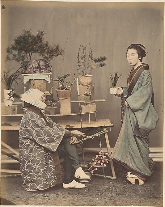Florist  Shinichi Suzuki  (Japanese, 1835–1919)  Date: 1870s Medium: Albumen silver print from glass negative