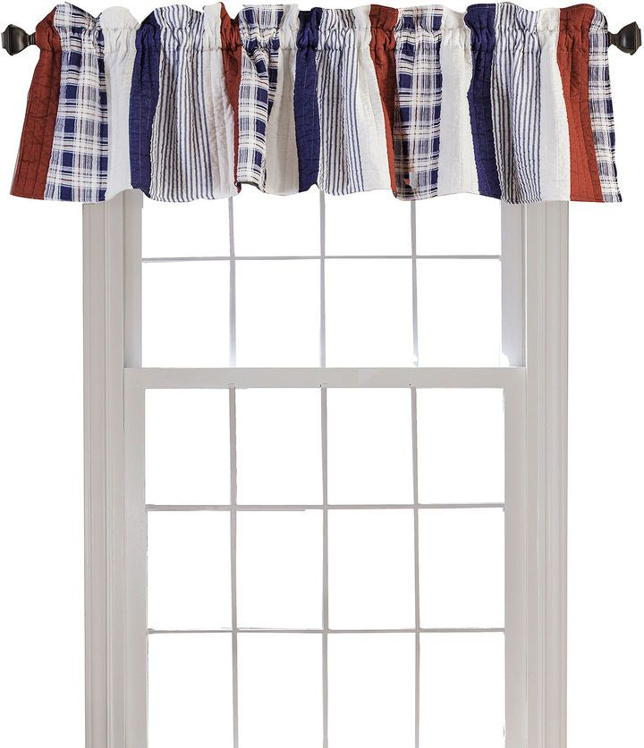 GREENLAND HOME FASHIONS Greenland Home Fashions Nautical Stripe Quilted Rod-Pocket Valance