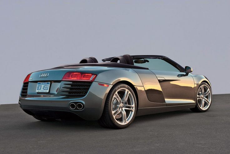 Audi R8 Spyder taken from the rear!