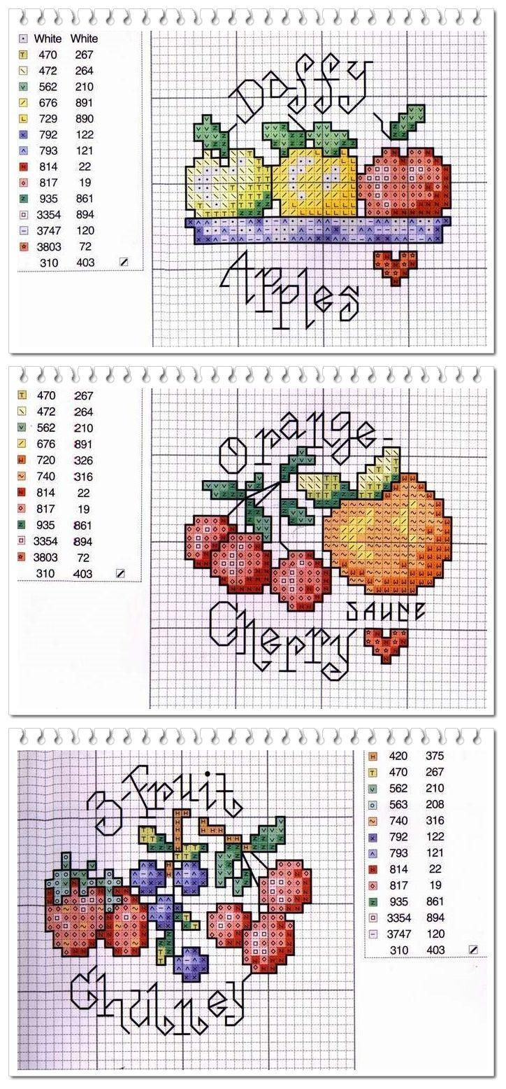 Cross Stitch Fruit Pattern