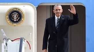 Letzter Besuch als US-Präsident: Obama in Hannover eingetroffen