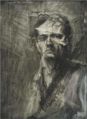 Frank Auerbach - Self Portrait  Texture and form