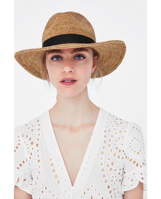 7407b3bc Image 4 of RAFFIA HAT from Zara | 2018 | Raffia hat, Hats, Zara fashion